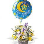 Baby Boy Arrangement with Mylar Balloon 60.00