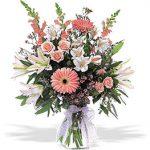 Baby Girl Arrangement in a clear vase 60.00