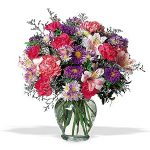 Vase Arrangement in Bright Mixed Flowers 45.00