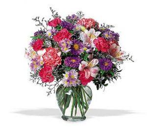 Vase Arrangement in Bright Mixed Flowers 45.00